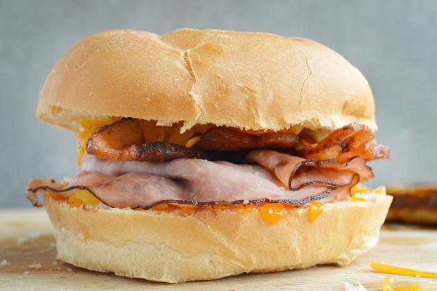 Breakfast Dagwood Sandwich Picture