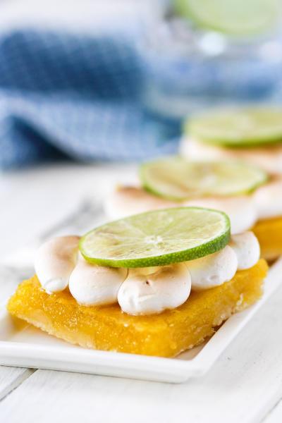 Key Lime Pie Meringue Bars Pic