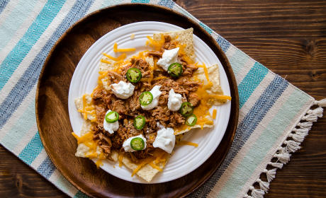 Shredded Chicken Nachos for Two