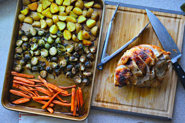 One Pan Honey Roasted Turkey and Vegetables Image
