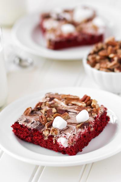 Red Velvet Mississippi Mud Cake Image
