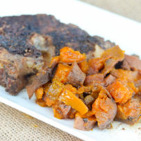 Slow Cooker Roast with Maple Sweet Potatoes Recipe