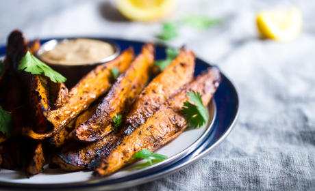 Maple Tahini Grilled Sweet Potatoes