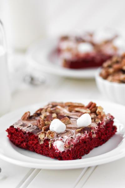 Red Velvet Mississippi Mud Cake Picture