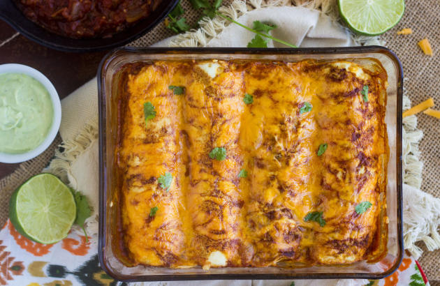 Healthy Chicken Enchiladas Photo