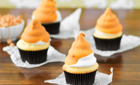 Butterscotch Dip Cupcakes