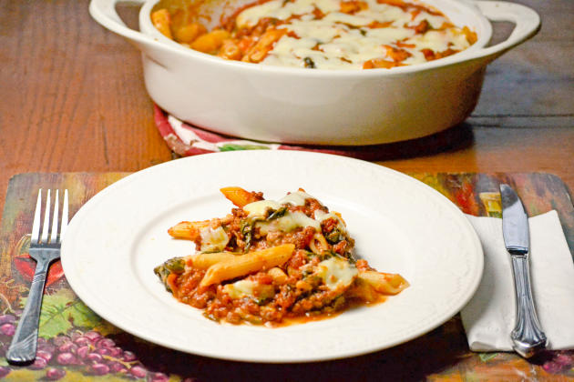 Baked Ziti with Spinach Photo