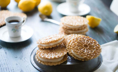 Lemon Ginger Pizzelle Sandwich Cookies Recipe