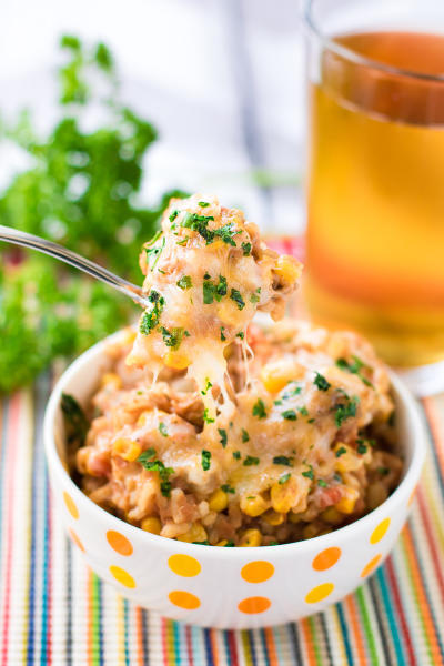 Refried Beans and Rice Skillet Picture