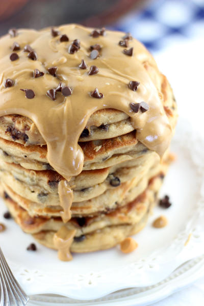 Peanut Butter Chocolate Chip Pancakes Pic