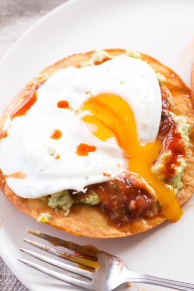 Breakfast Tostadas with Guacamole Photo