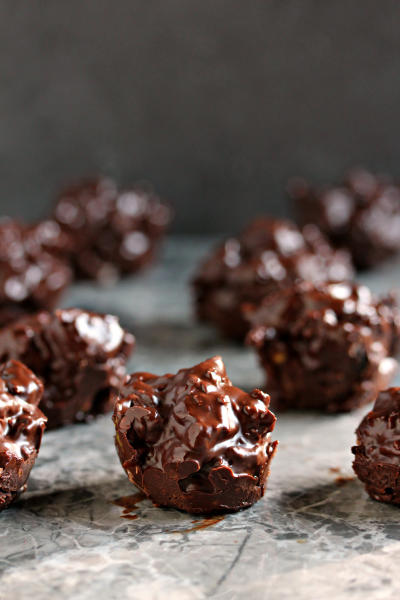 Chocolate Fruit & Nut Clusters Image