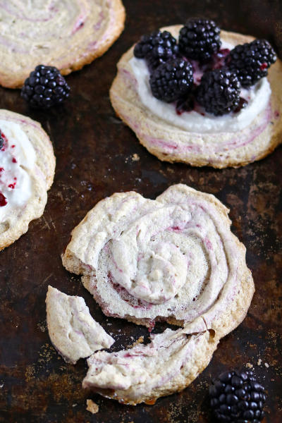 Blackberry Meringue Cookies Image