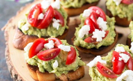 Avocado Goat Cheese Crostini Recipe