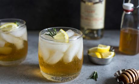 Lillet Spritzer with Honey and Rosemary