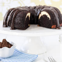 Ribboned Fudge Bundt Cake Recipe