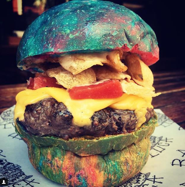 Colorful burger