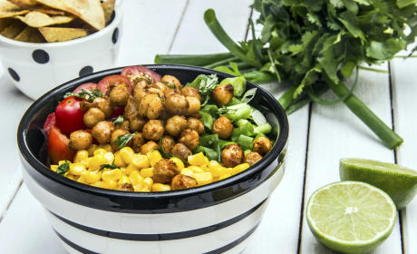 Avocado Lime Roasted Chickpea Salad Recipe