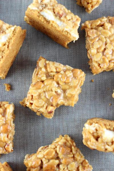 Peanut Butter Cookie Rice Krispie Bars Pic