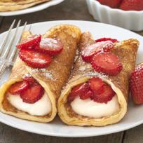 Gluten Free Strawberry Cheesecake Pancakes Recipe