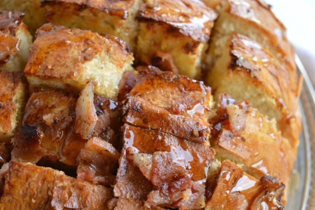 Maple Bacon Pull Apart Bread Image
