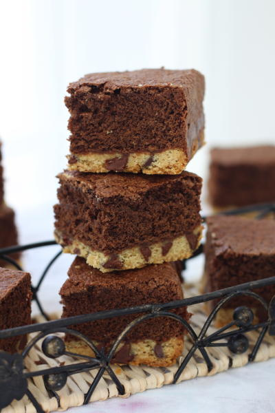 Chocolate Chip Shortbread Brownies Picture