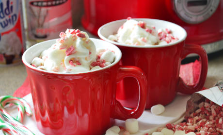 Boozy Slow Cooker Peppermint Hot Chocolate