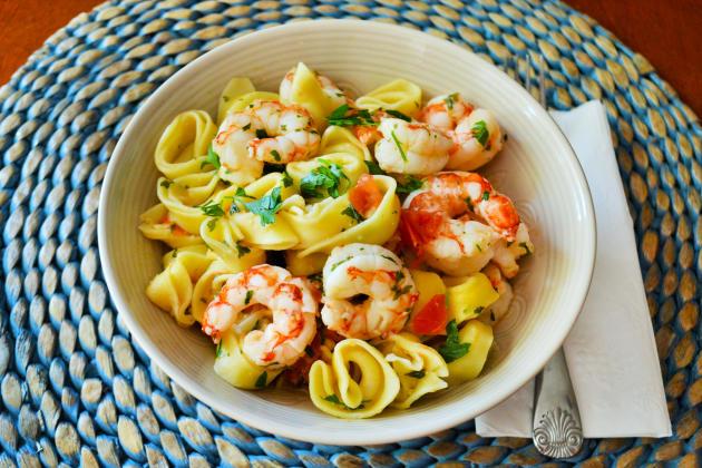 Shrimp Scampi Tortellini Image