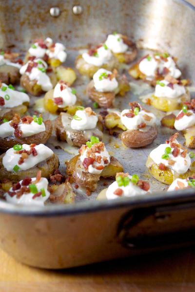 Loaded Smashed Potato Bites Picture