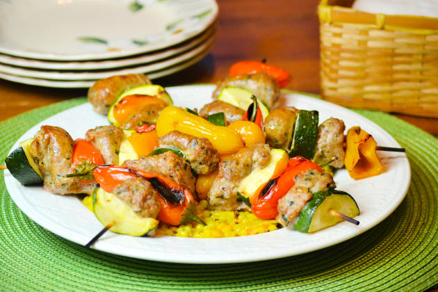 Oven Roasted Sausage Kabobs Photo