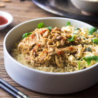 Crockpot Thai Peanut Chicken Quinoa Bowls Recipe