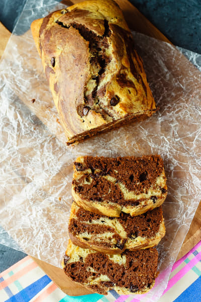 Marbled Chocolate Orange Bread Picture