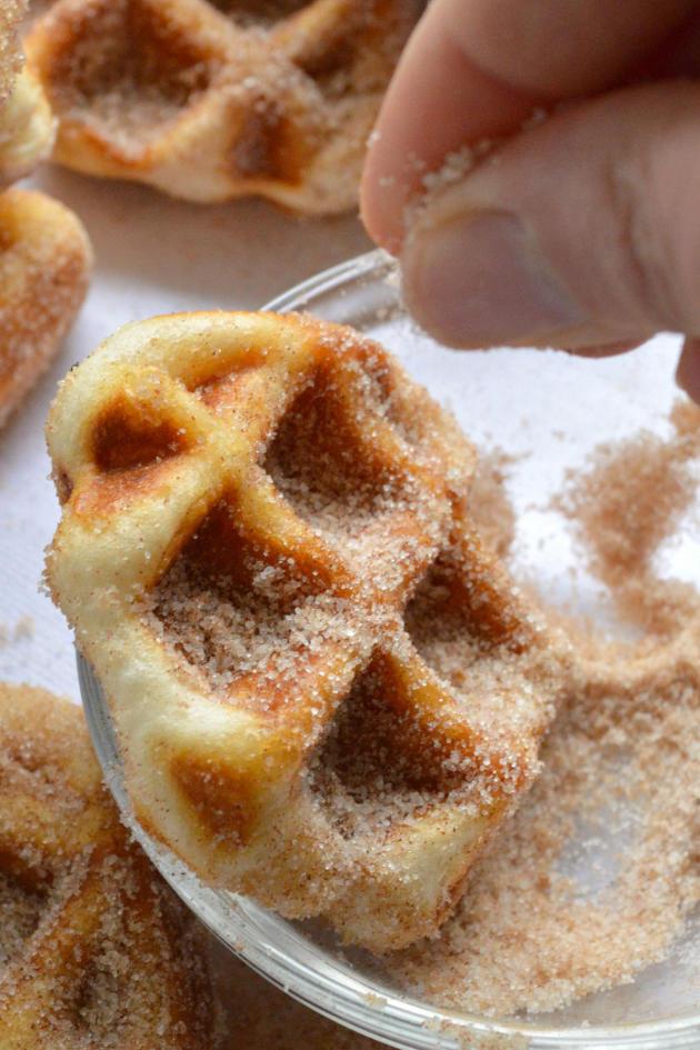 Minute Cinnamon Sugar Waffle Bites Picture - Food Fanatic