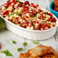 Fruit Salsa with Cinnamon Wonton Chips Recipe