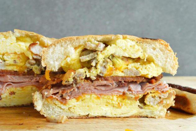 Breakfast Dagwood Sandwich Photo