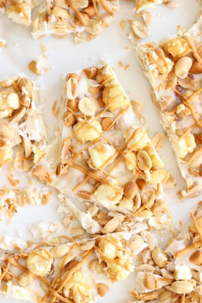 Salted Peanut Butterscotch Caramel Corn Bark Picture
