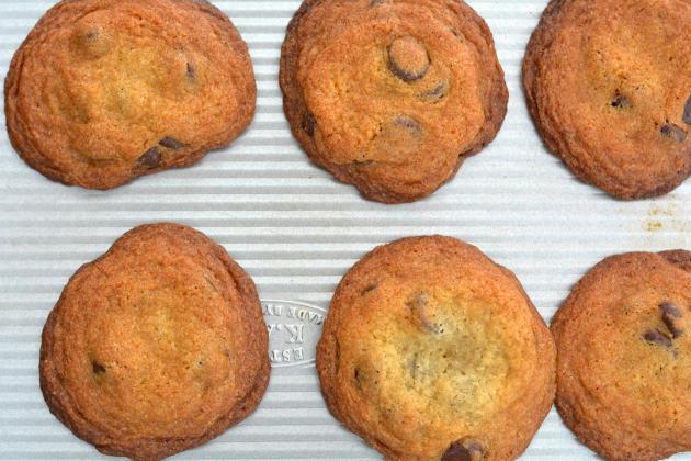 Dark Chocolate Almond Cookies Photo
