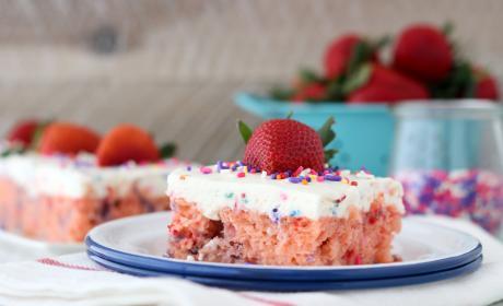 Funfetti Strawberry Poke Cake Recipe