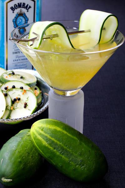 Cucumber Gin Martini Picture