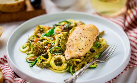 Slow Cooker Italian Chicken with Zucchini Noodles Recipe