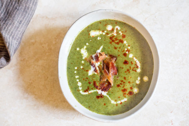 Cream of Spinach Soup for Two Photo