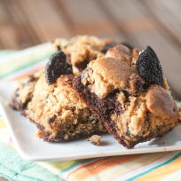 Oreo Peanut Butter Brownies Recipe