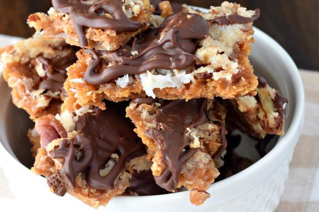 Chocolate Coconut Cracker Toffee Photo