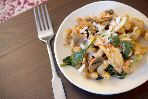 Chicken Pasta with Mushrooms
