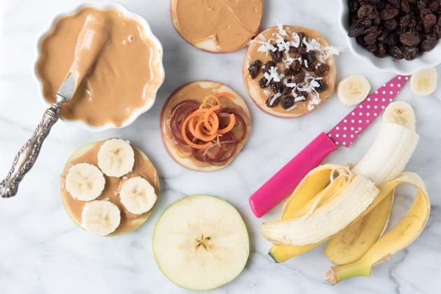 Apple Peanut Butter Sandwiches Photo
