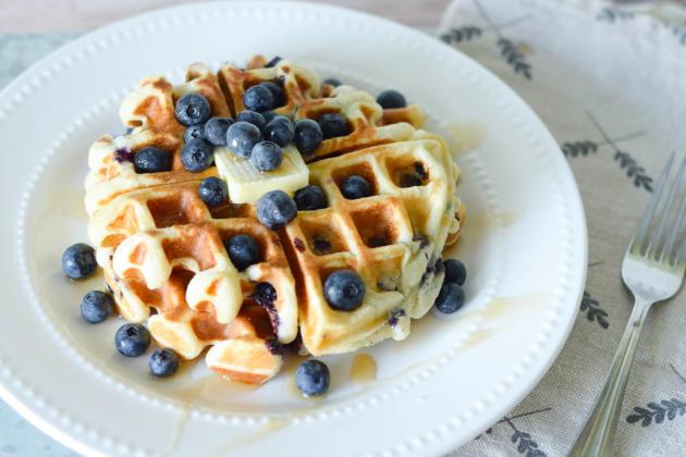 Gluten Free Blueberry Waffles - Food Fanatic