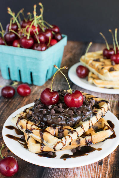 Cherry Chocolate Chip Waffles Picture