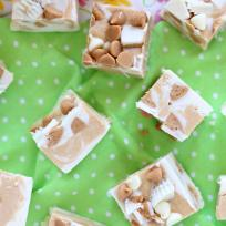 White Chocolate Peanut Butter Cup Fudge Recipe