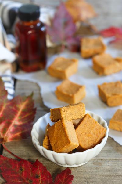 Paleo Pumpkin Pie Fudge Image
