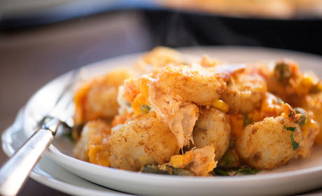 Buffalo Chicken Tater Tot Casserole Recipe